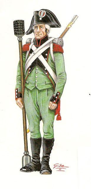 Artiglieria a piedi della Legione italica truppa 1800