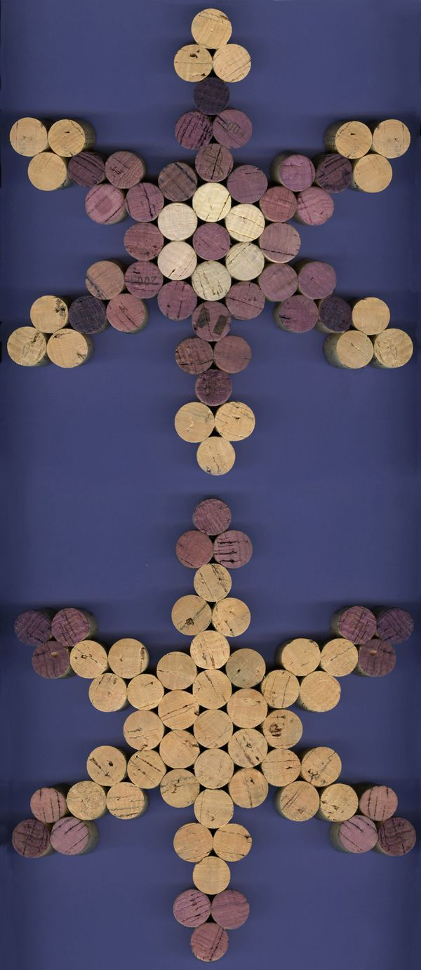 GRAPE SNOWFLAKE CORK TRIVET - original cork sculpture by Mark Smollin