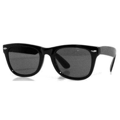 Tedd Haze Wayfarer Brille schwarz Rocker mit Brillen Beutel