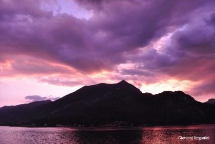 Amazing sunset in Bellagio