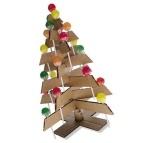 Albero di Natale fatto con cartoncino e lecca lecca