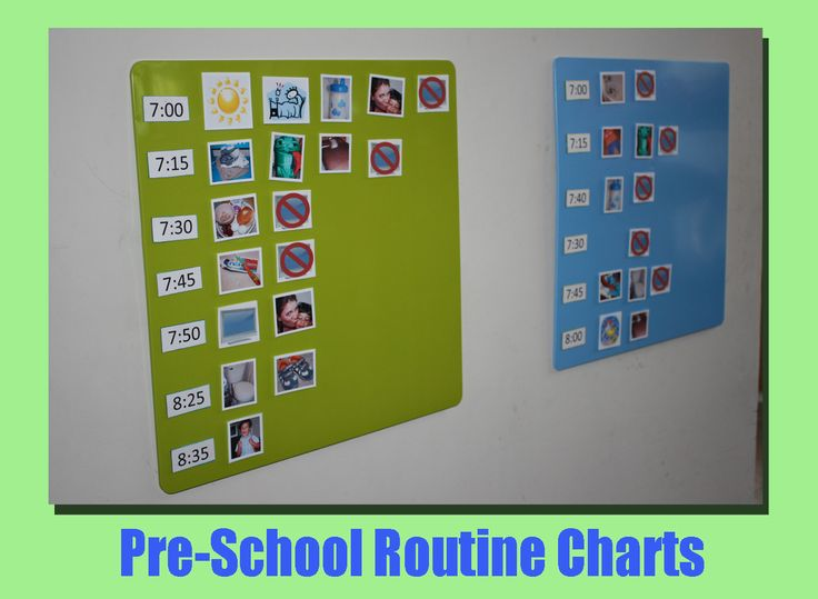 Magentic Routine Charts for Kids/Families... Love the idea of the no T.V. magnets for different times.