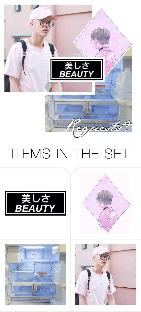 """request here!"" by dating-sims ❤ liked on Polyvore featuring art"