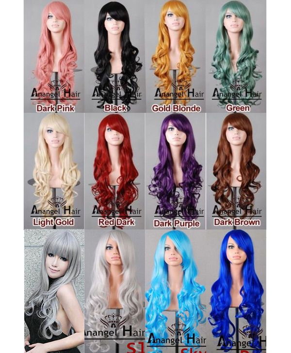 """PINK NEW/""""  LONG OR SHORT BOB WIG GREAT FOR HALLOWEEN FANCY DRESS PARTY GREEN,"""