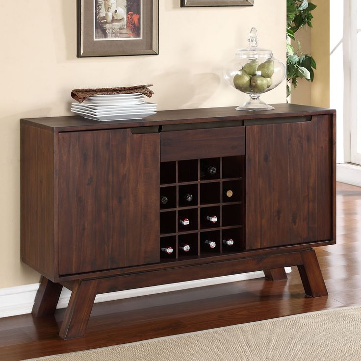 Dining Room Serving Table Part   49: Modus Portland Solid Wood Sideboard    Medium Walnut Part 78