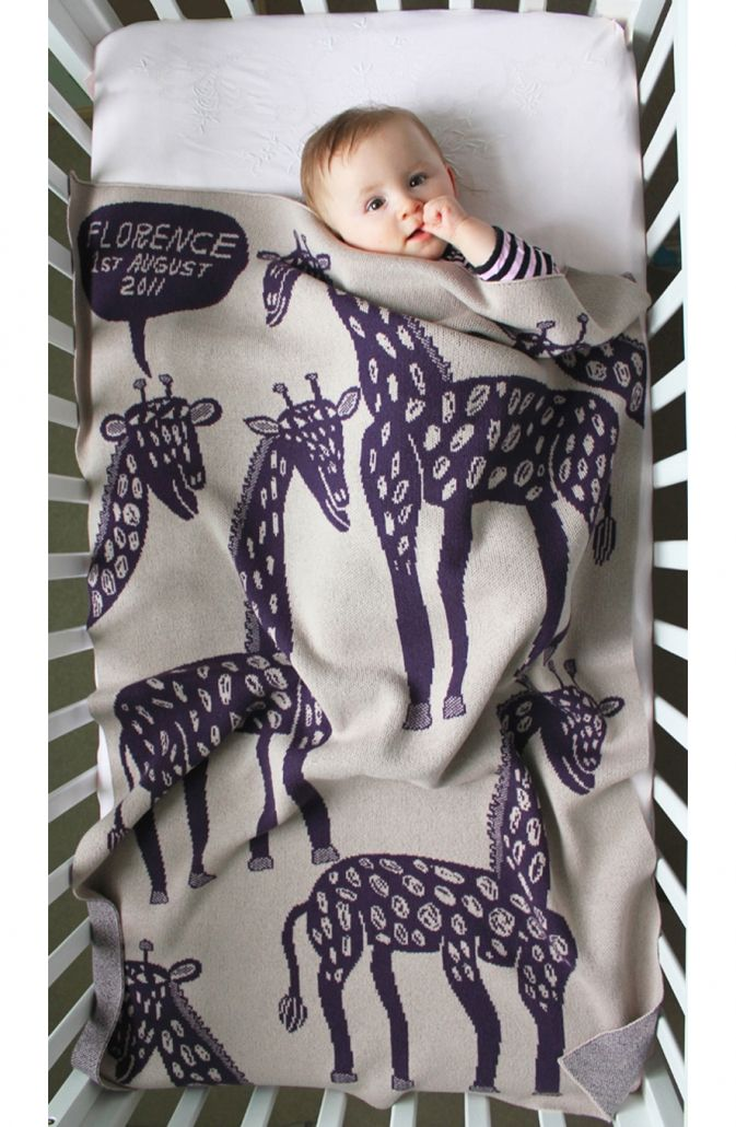 Personalised Baby Blanket – Cashmere Bespoke Blankets for Babies at ROAM