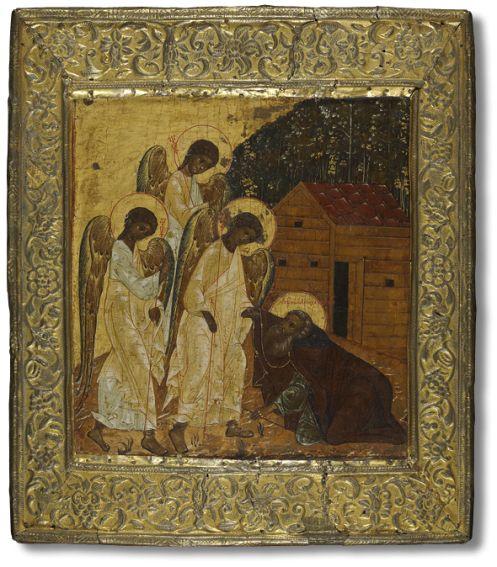 Явление Святой Троицы преподобному Александру Свирскому  Вторая четверть – середина XVII века. Москва