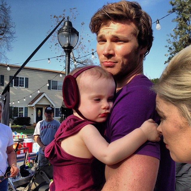 Derek Theler & Baby Emma❤❤❤ Guys become 100x hotter when they are playful with children!!!!!! (;