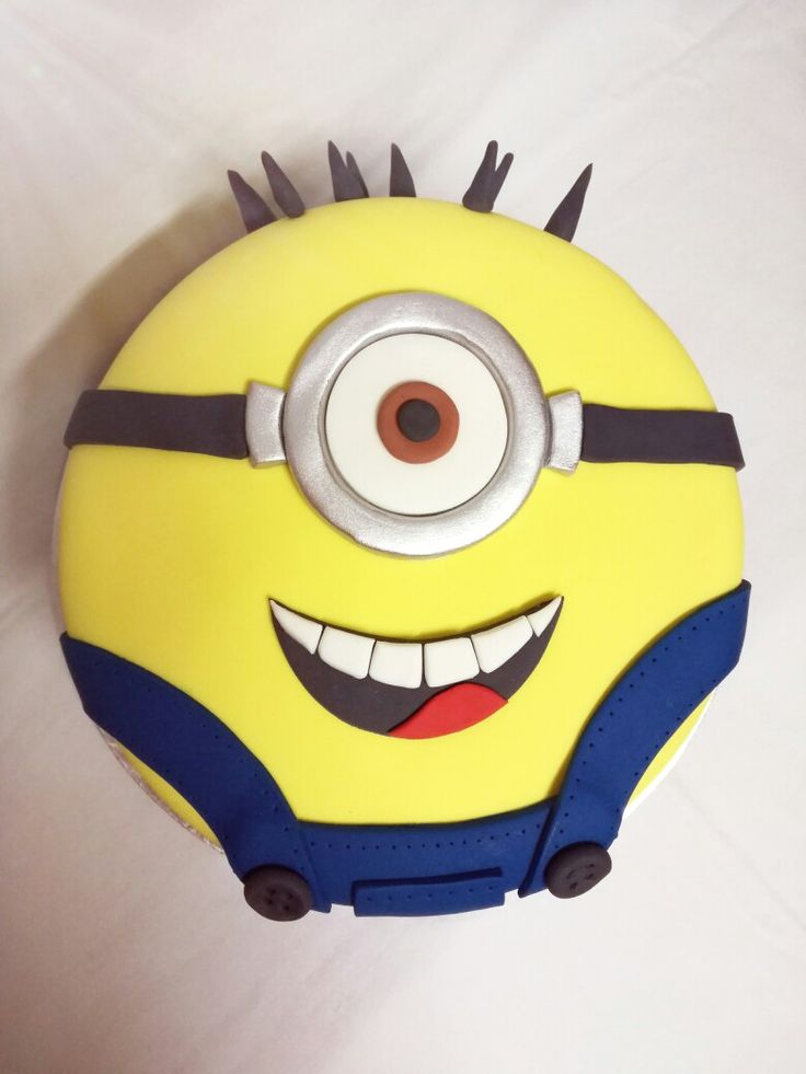 Minion cake for a themed birthday party