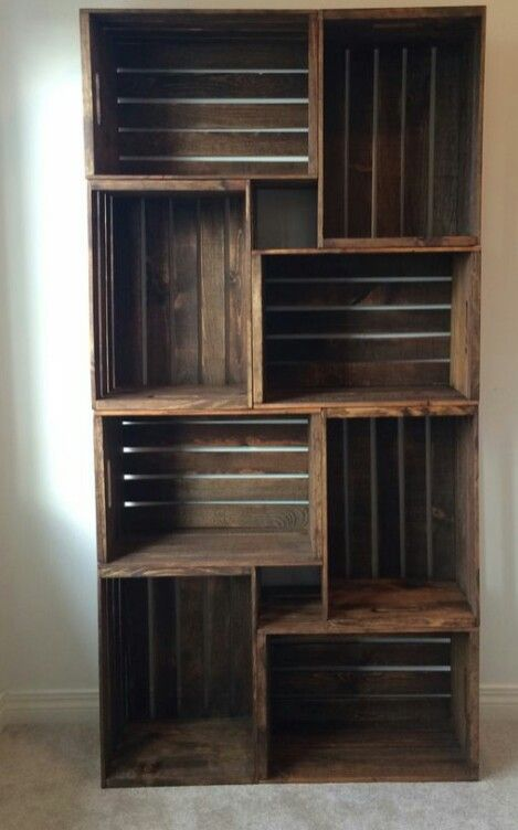This would be a neat idea for a shelf!