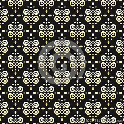 Seamless gold and black pattern. Background.