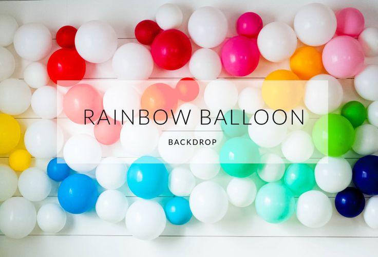 Rainbow Balloon Wall   The Sweet Lulu Blog