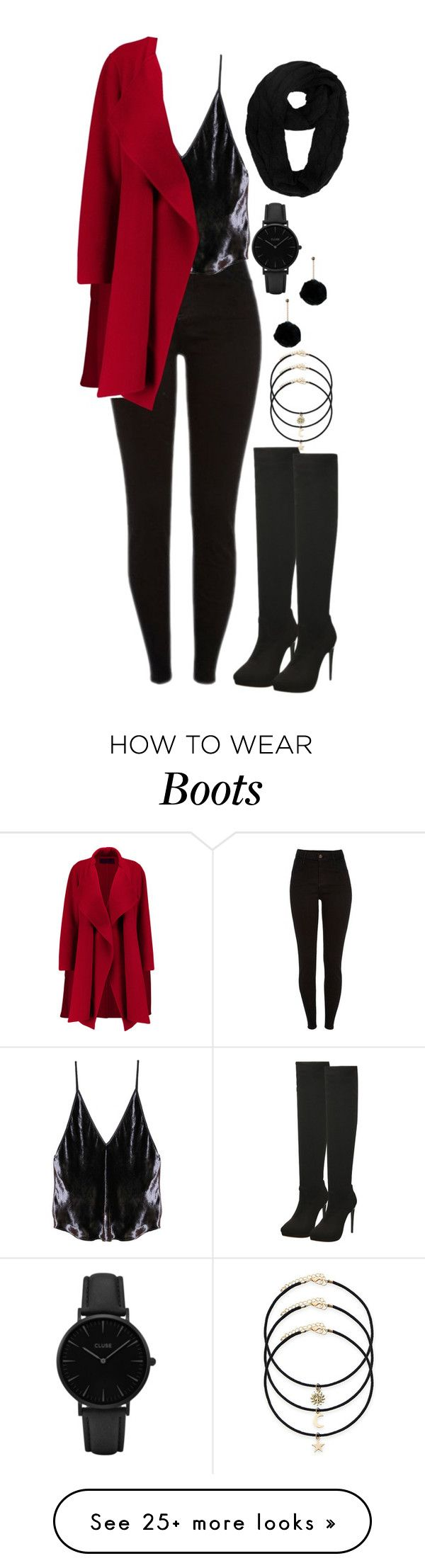 """1260."" by asoul4 on Polyvore featuring Fleur du Mal, Donna Karan and CLUSE"