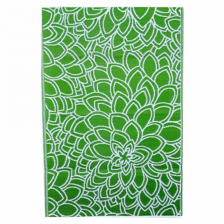 Eden Outdoor Rug, Green/Off-White, 120 x 179cm