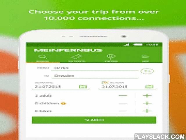 MeinFernbus: Bus Travel  Android App - playslack.com ,  Never worry about finding the right bus connection again - with MeinFernbus' free bus app you have direct access to Germany's most extensive long distance bus network - now with many connections throughout Europe. Download the app now and book your cheap bus ticket directly on your smartphone.FUNCTIONS:Use the MeinFernbus app to search for your desired European bus connection, easily find the location of your bus stops and an overview…