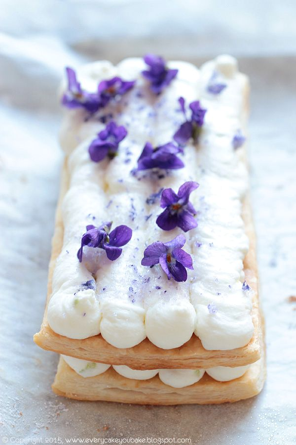 Lime & Violet Mille Feuille  #pastry (use google translate)