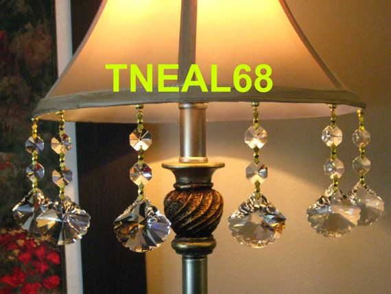 Lot Of 6 Magnetic Teardrop Leaf Shape Crystal Charms By Tneal68 19 00