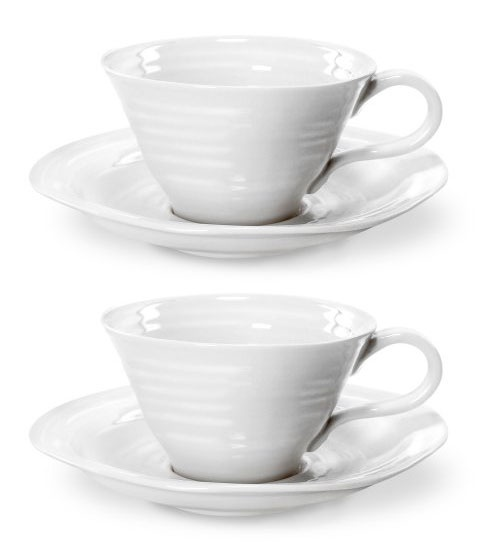 Teacup and Saucer set of 2 (Gift Boxed). Product Code: CPW76590.  Call 905·885·9250.
