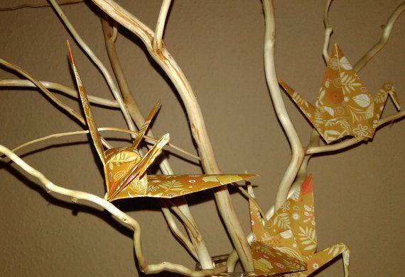 Origami crane Set of 100 crane wedding crane by Handmadegiftbox