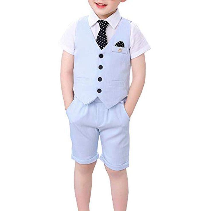 Shengwan 4 Stück Jungen Kinder Anzug Set Hochzeit Festlich Kinderanzug Anzüge … – Jungen