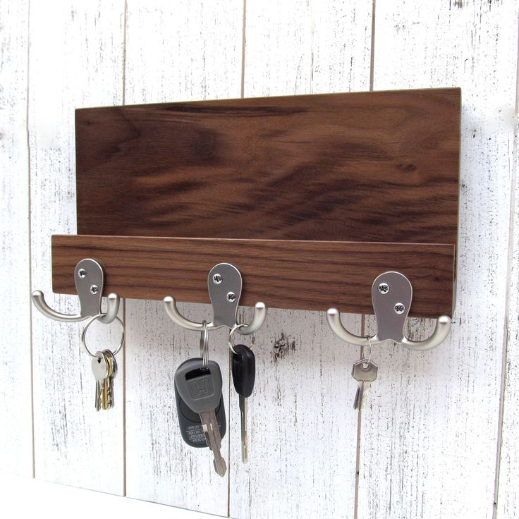 Excited to share the latest addition to my #etsy shop: Wooden key rack with shelf, entryway organizer, mail and key holder for wall, key storage, leash hanger, mail organizer, key hook rack. #storage #housewarming #christmas #entrywayorganizer #keystorage #leashhanger #mailorganizer