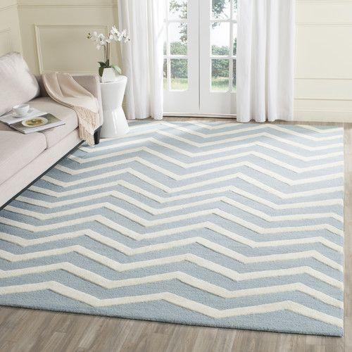 Gefunden bei Wayfair.de - Handgetufteter Teppich in Elfenbein/Grau