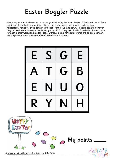 Easter boggler puzzle