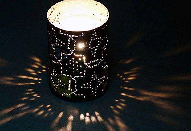 Наружные светильники из консервных банок