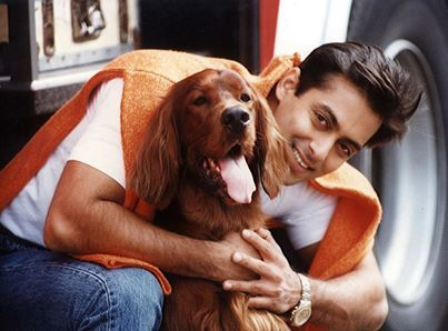 "salman khan Jab Pyaar Kisise Hota Hai with dog ""Sandy"""