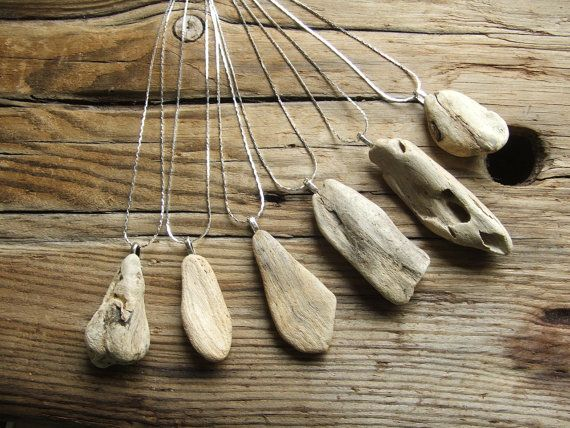driftwood from the north shore----I just love wood in jewelry design....