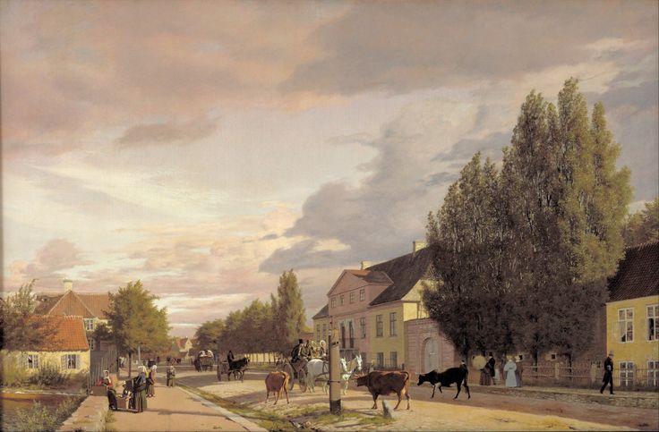 View of a Street in Østerbro outside Copenhagen, Morning Light, Christen Købke, 1836