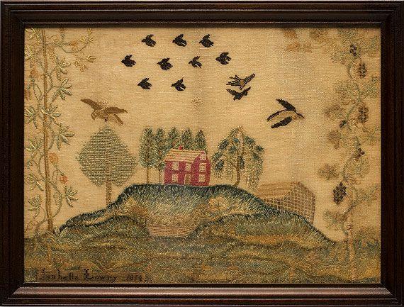 Antiques & Fine Art - Nichols, Thurston American Antiques - Montgomery County Sampler