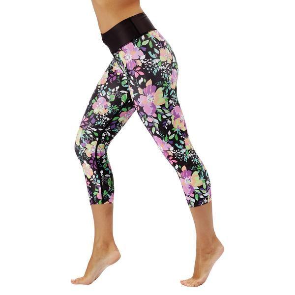 Tikiboo Neon Flowers Capri £32.99 #Activewear #Gymwear #FitnessLeggings #Leggings #Tikiboo #Running #Yoga