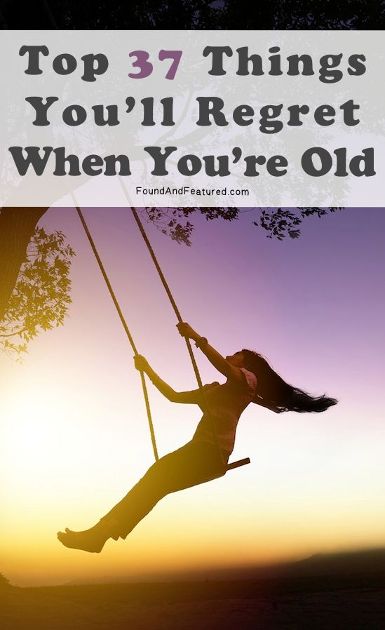 Life is short! Live in the moment and don't grow old with regrets.
