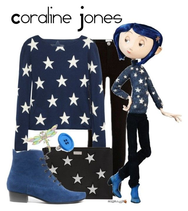 """Coraline Jones"" by sjade9 ❤ liked on Polyvore featuring River Island, Banjo & Matilda, STELLA McCARTNEY, timburton, coraline and CoralineJones"