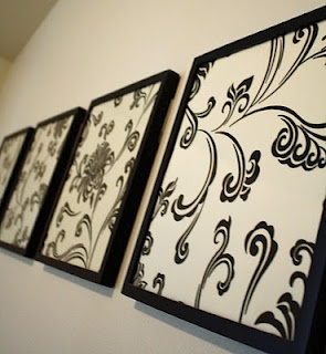 framed fabric wall decorit is as easy and beautiful asit sounds