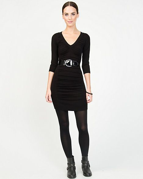 Le Château: Ruched Sweater Dress