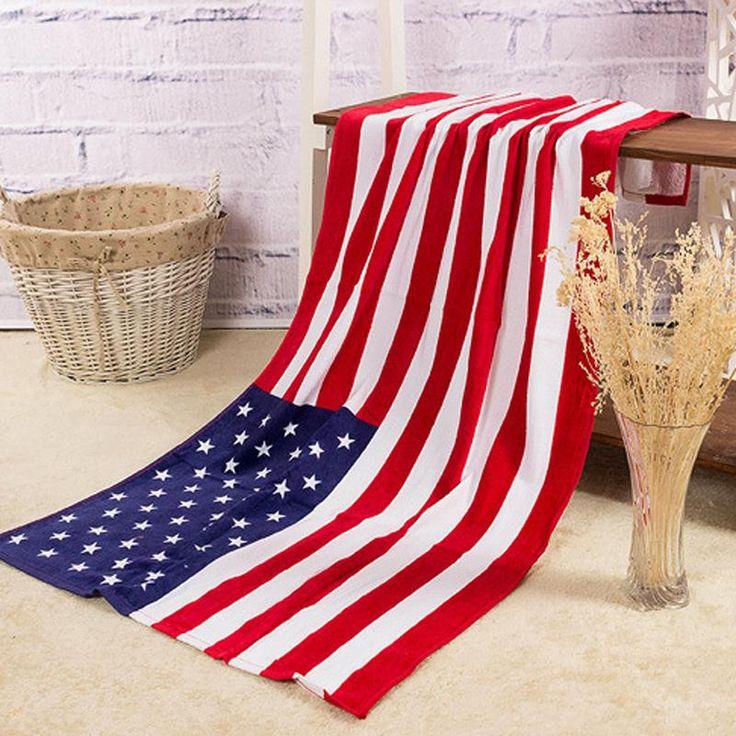 Classic American Flag Beach Towel