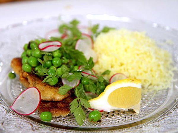 Panerad rödspätta med pressad potatis | Recept från Köket.se