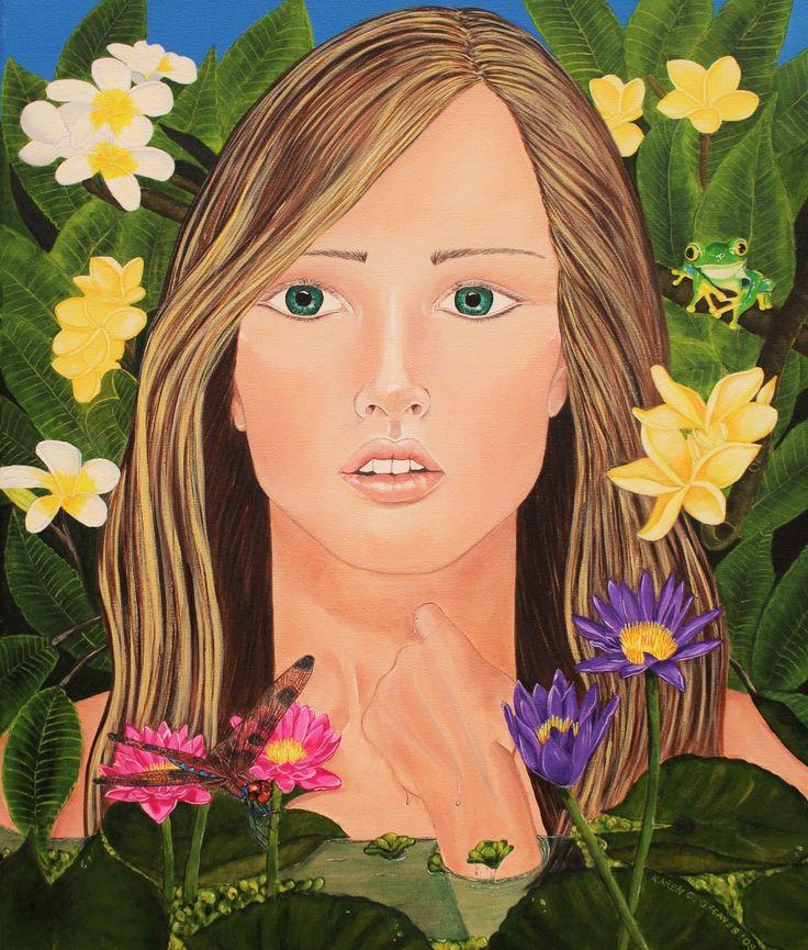 Plumeria Original artwork on canvas