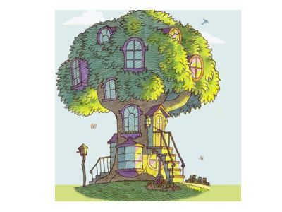 This is the Bearenstein Bears' house. At one point I had a troll house that looked somewhat like this.