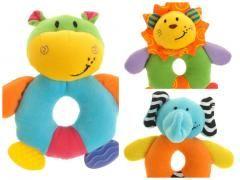 Partij 4 Stuks knuffel / rammelaar leeuw, olifant, nijlpaard, beer http://www.partij-specialist.nl/