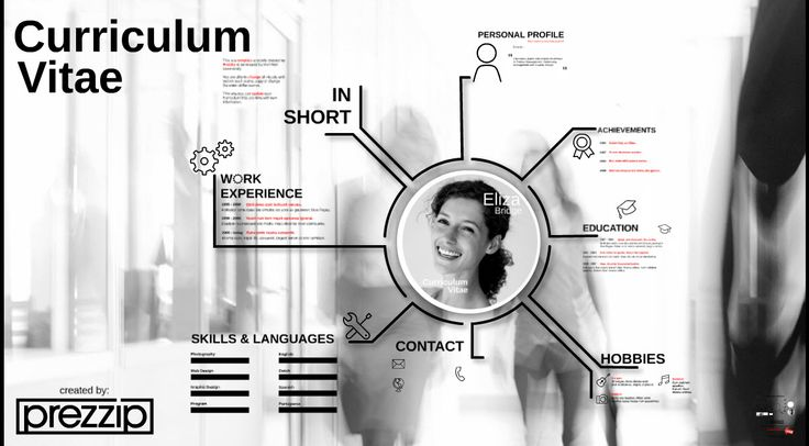 A unique CV Resume template from Prezzip