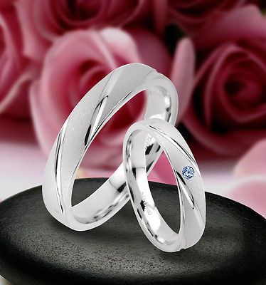 Trauringe  Eheringe Verlobungsringe mit echten Blautopas , Silber 925 , J39-1B