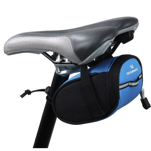 Hot sale Outdoor Cycling Mountain Bike Bags Bicycle Saddle Bag Back Seat Tail Pouch Package Black/Green/Blue/Red (Upgraded) H1E1