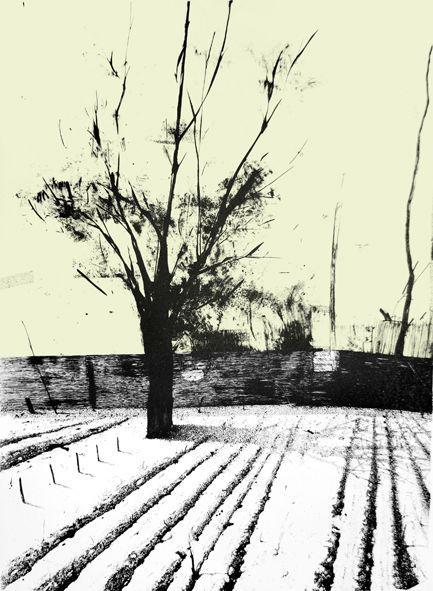 "Marta Galisz ""Ruptawa"" litografia / pejzaż / lithography / landscape"