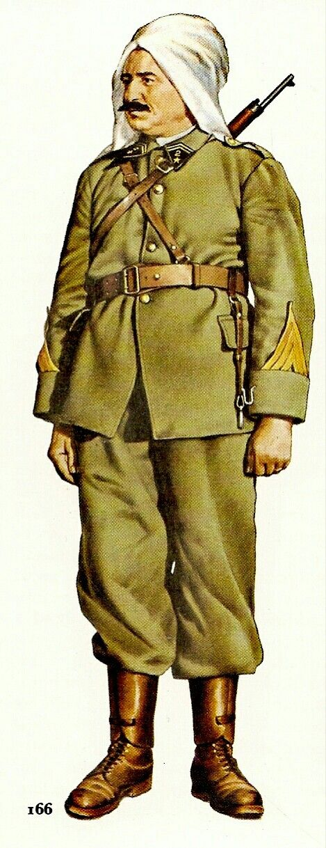 France WWII. Sergeant Major, Moroccan Spahis, 1943 - pin by Paolo Marzioli