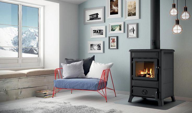 Living room ideas: armchair and wood burner