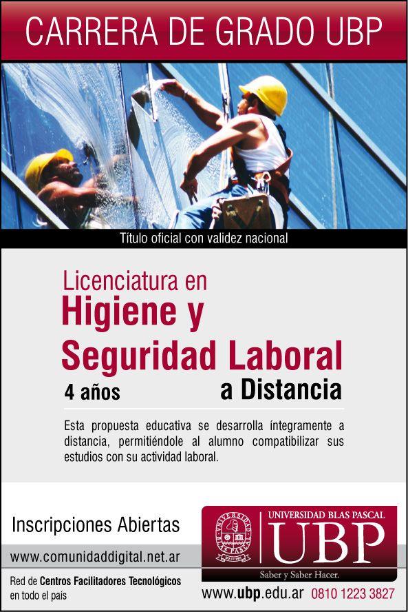 Licenciatura en Higiene y Seguridad Laboral on line