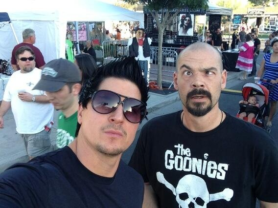 Zak and Aaron. Is there a picture where Aaron has a normal look on his face?